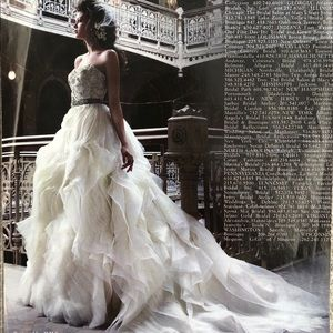 Lazaro Organza Wedding Ball Gown Sz 6